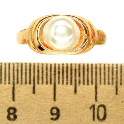 Кольцо мм М33 жемчужина