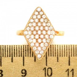 Кольцо мм М36 ромб жемчужины