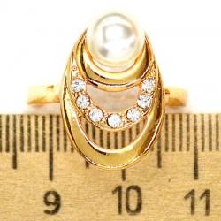 Кольцо мм М38 овал жемчужина