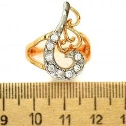 Кольцо мм М44 хвостик с серебристым