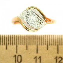 Кольцо мм М49 серебристая волна