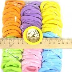 Резинка для волос цветная постел(1 уп) р48