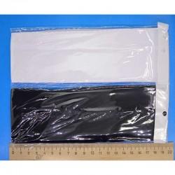 Повязка средняя 7 см черная и белая 1 шт М30