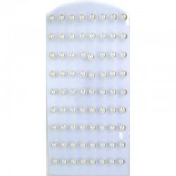 Серьги жемчуг белый 1 ряд (9 пар) 7 мм М6
