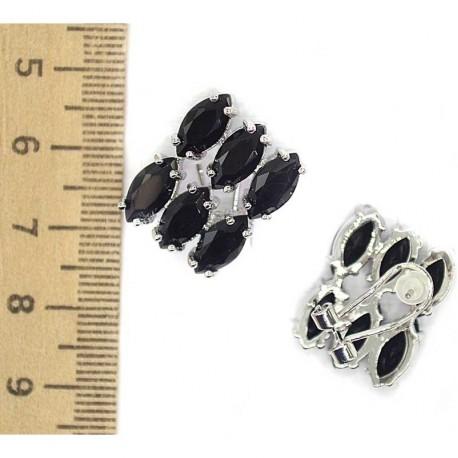 Серьги камни черные М71