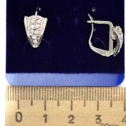 Серьги хх треугольник в серебре М106