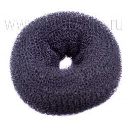 Валик шишка для создания прически черный 14,5