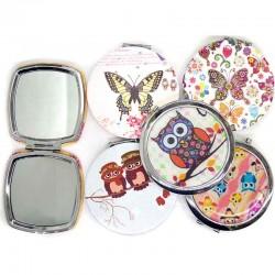 Зеркало карманное девочка металл микс 1 шт