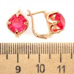 Серьги кристалл красный М209