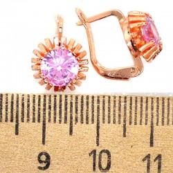 Серьги звезда розовый М216