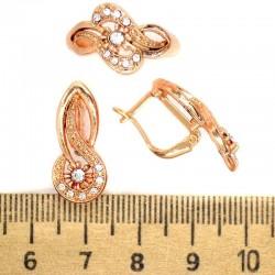 Серьги и кольцо капля М244