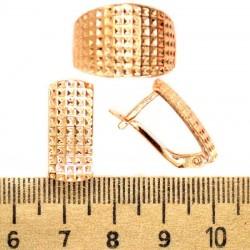 Серьги и кольцо прямоугольник М245