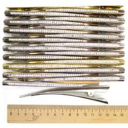 Уточка металл стразы микс (1 шт) М116
